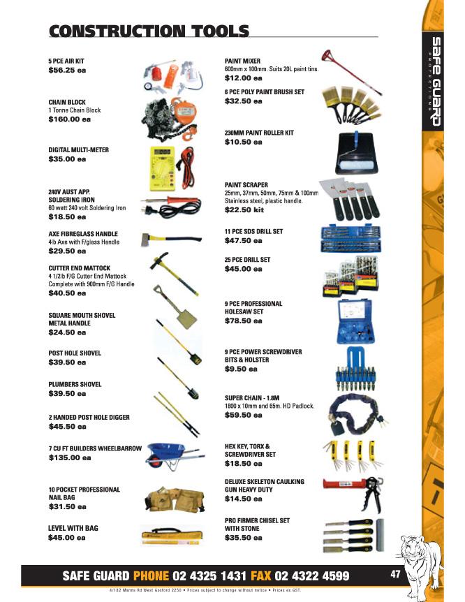 Pg 47 Construction Tools